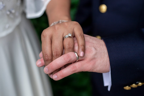 Hand Holding Wedding Day