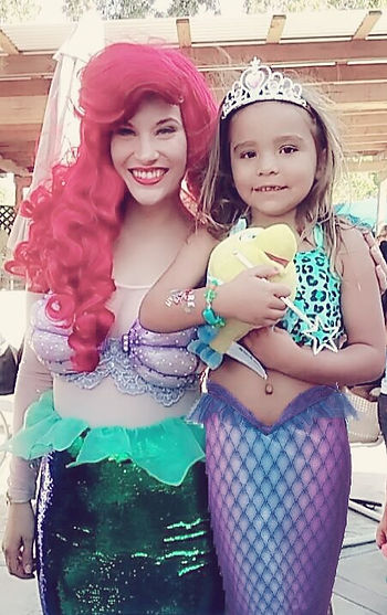 Ariel Vacaville birthday Princess Sacramento, Fairfield, Davis, Mermaid Charcter