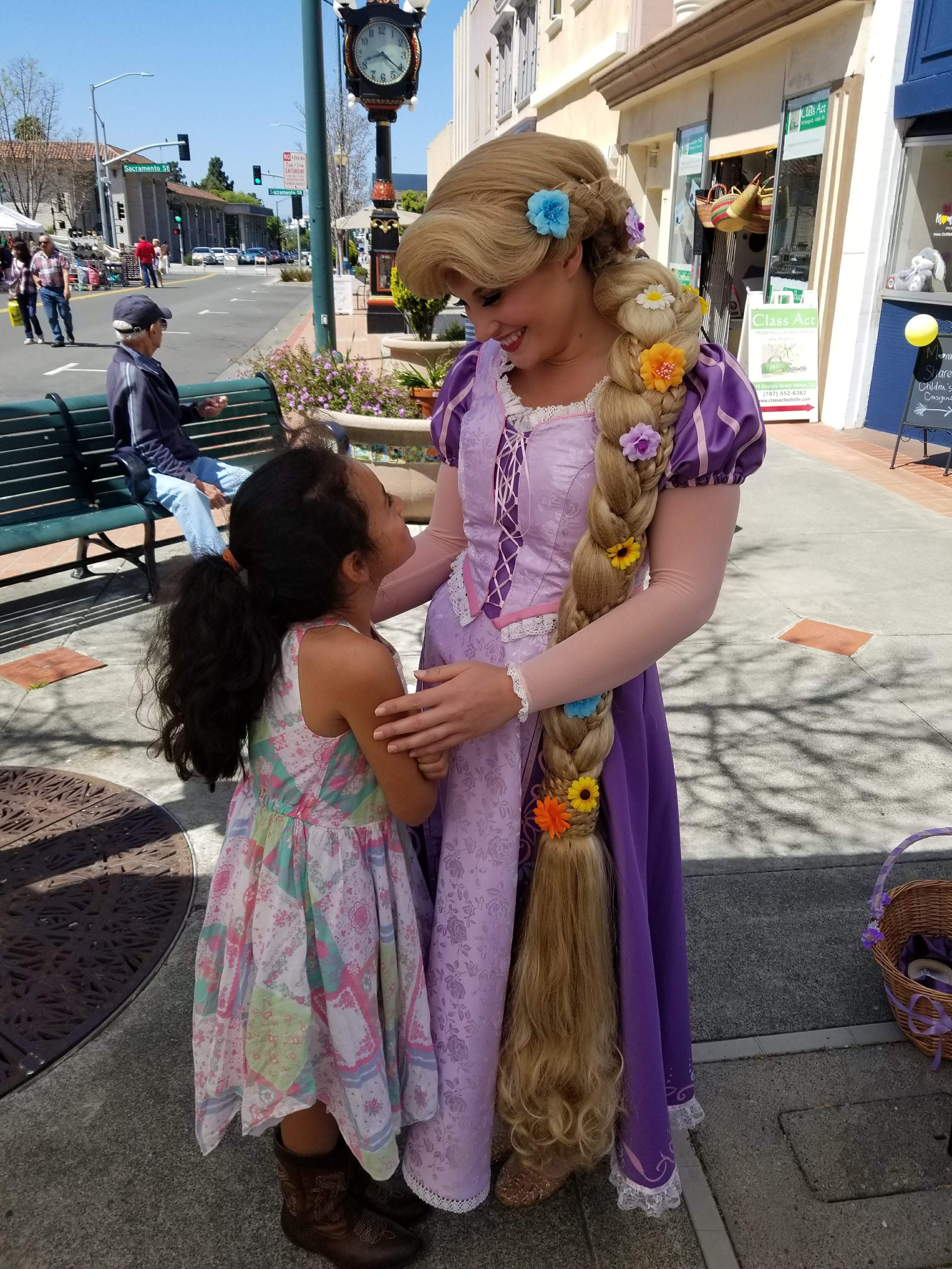 Rapunzel loves meeting her fans!