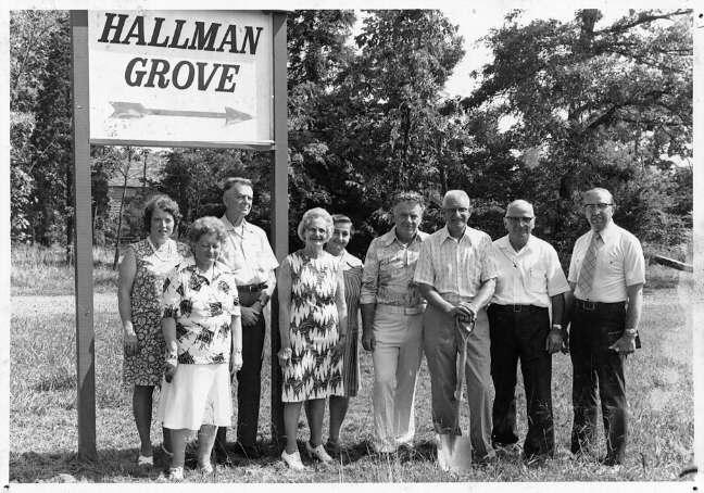 Hallman Grove Groundbreaking in 1975