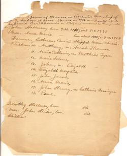 Genealogy Document