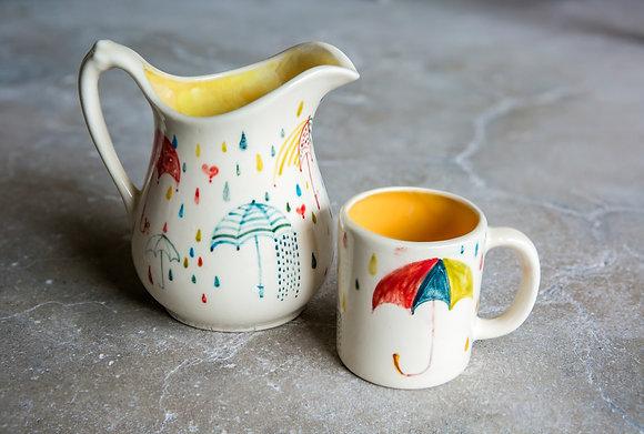 Pitcher and mug