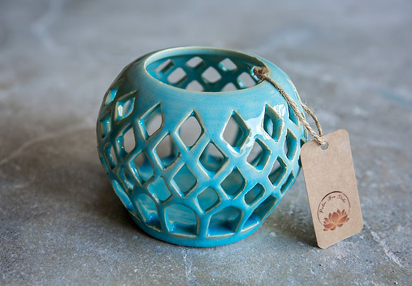 Blue Candle holder - Sold