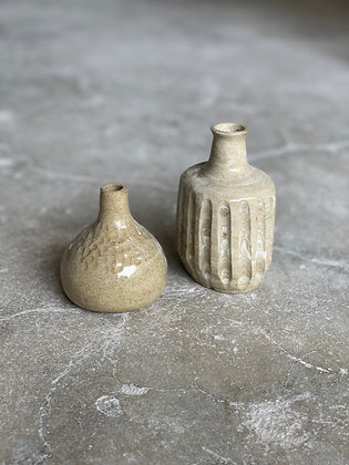 Set of 2 brown incense holder