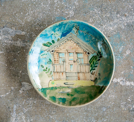 Handpainted House Wall Plate