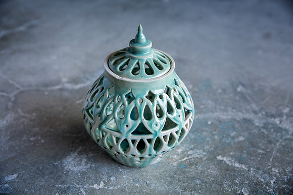 Turquoise Candle Holder - Sold