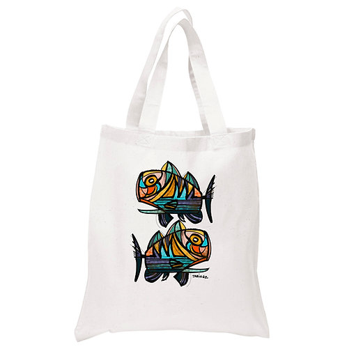 Fish Series Canvas Tote Bag