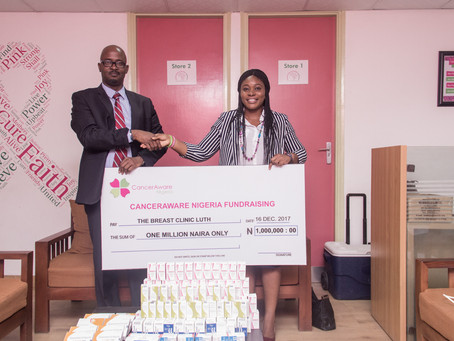 CancerAware donates N1 Million Naira Chemotherapy Medication to the Breast Clinic at LUTH