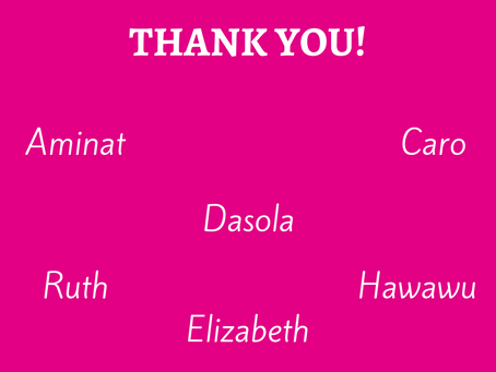 Our Women Say Thank You!