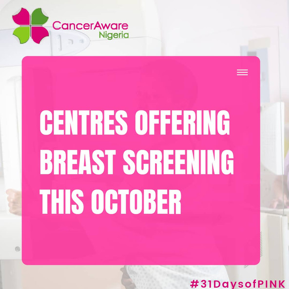 List of Breast Screening Centres in Nigeria