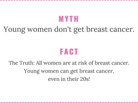 Young women can get Breast Cancer