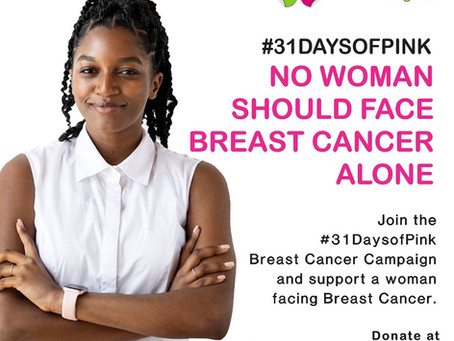 31 Days of Pink Breast Cancer Campaign 2020