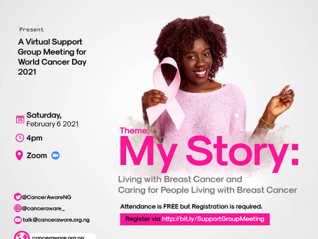World Cancer Day 2021 Online Support Group Meeting