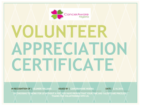 Appreciating Our Volunteers