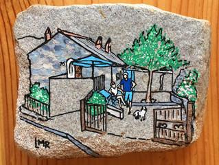 Dessiner sur les pierres...