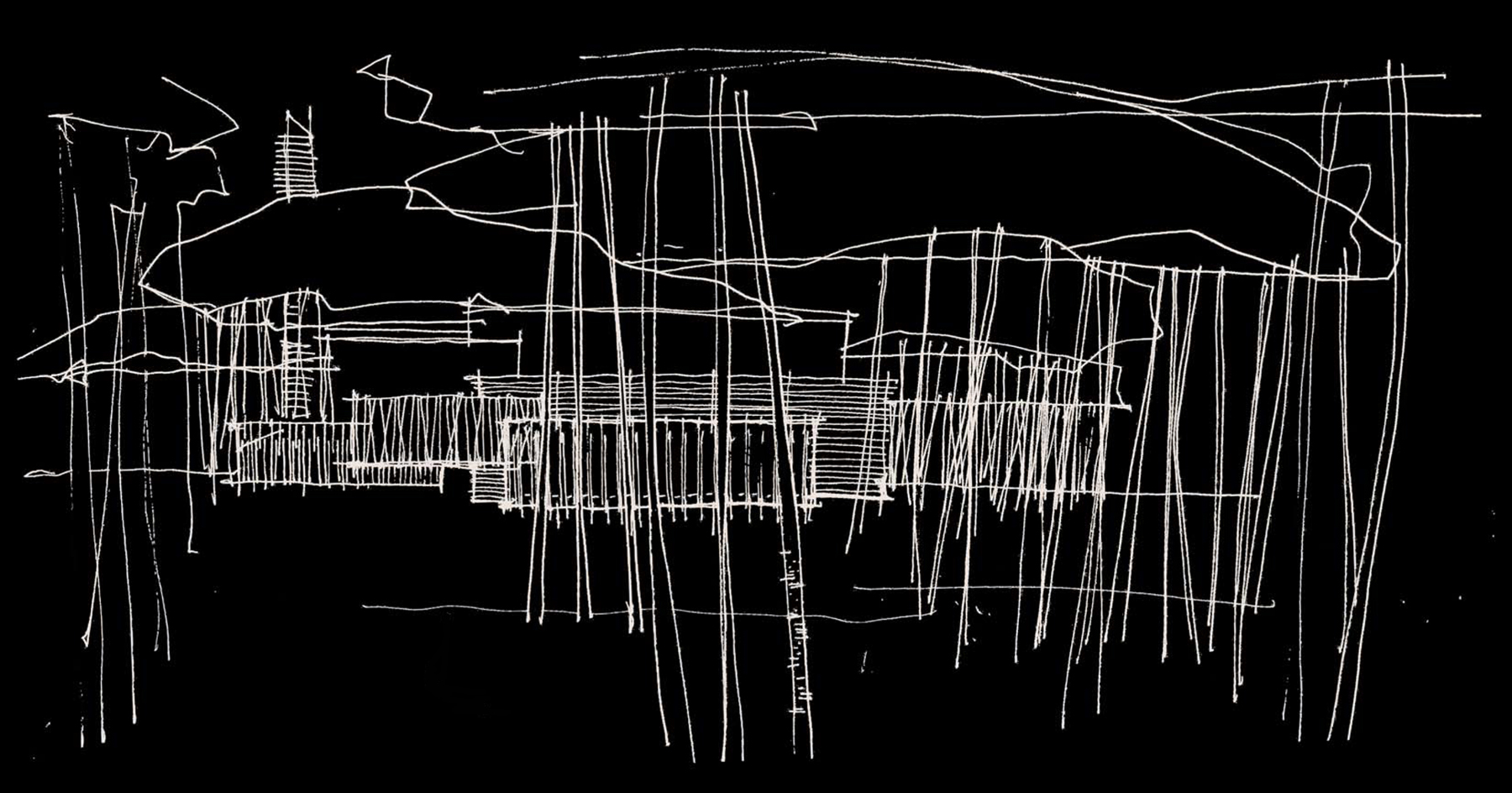 Screen elevation sketch INVERT