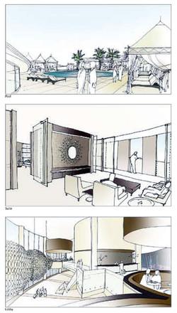 Amman Jordan Wadi Abdoun Mixed Development - Hotel sketches