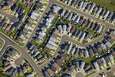 Neighborhood Aerial View - Commission Check Financial Spreadsheet project for Mortgage Broker