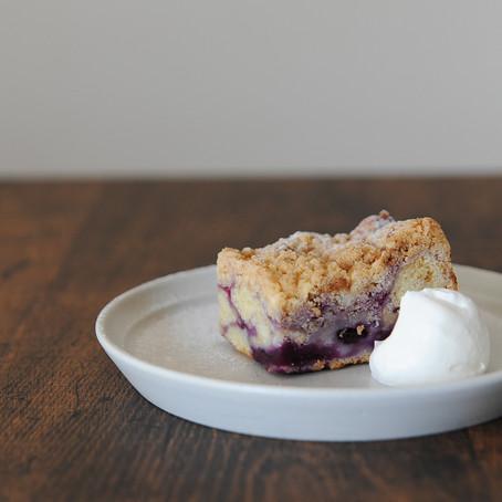 ブルーベリークランブルケーキ