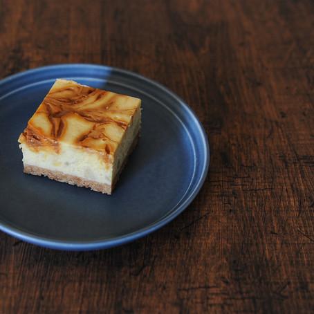 バナナキャラメルチーズケーキ