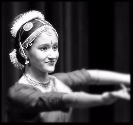Bharatanatyam student in Traditional Costume For Performance