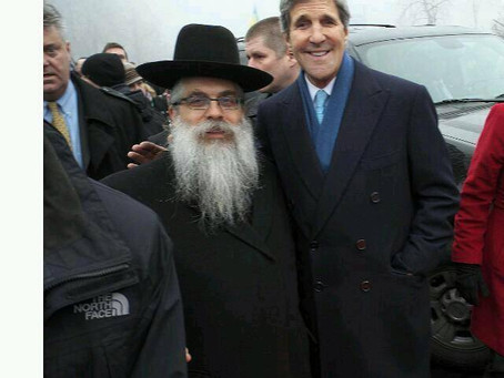 Rabbi Bleich meets John Kerry in Kiev Today