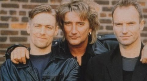 Bryan Adams Rod Stewart Sting