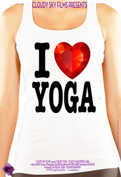 I Heart Yoga poster
