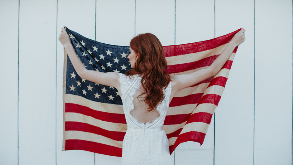 Green Wedding Shoes Featured   The Land of the Free-Spirited + Home of the Brave: Americana Wedding
