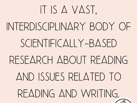 What is the Science of Reading?