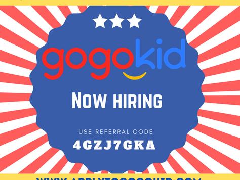$300 New Teacher Bonus is BACK at Gogokid!