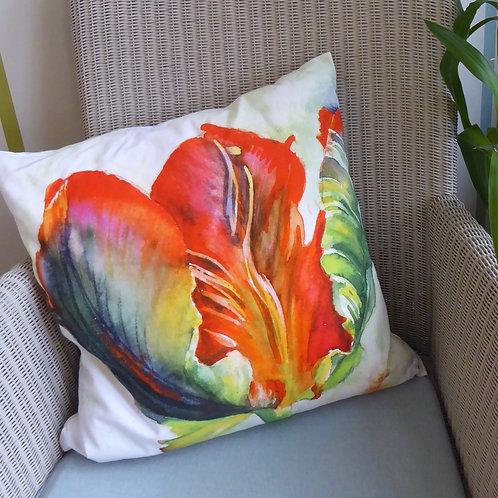 Red Tulip Cushion