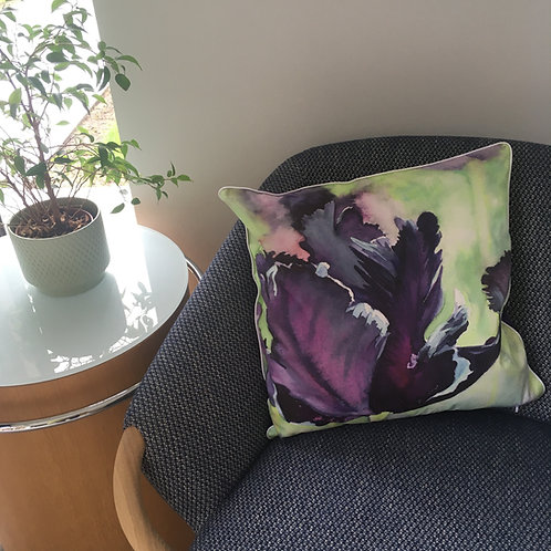 Black Tulip Cushion