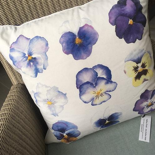 Purple Pansies Cushion