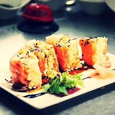 Entrante: Ozisushi de Salmon Ahumado