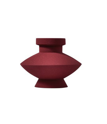 Sand Glazed Vase - Shape 3 in Oxblood