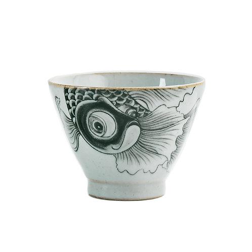 Big Fish Porcelain Cup (Set of 2)