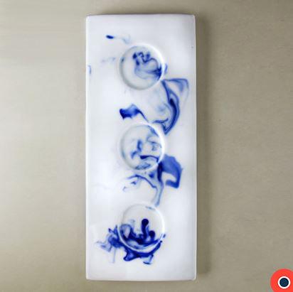 Blue Ink Trio Serving Dish 31cm