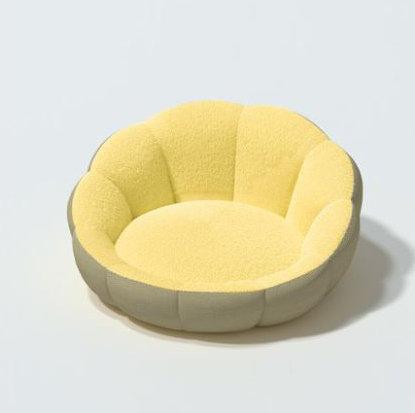 Scallop Snuggle Bed Custard Medium
