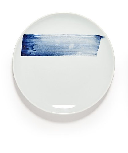 Blue Brush Plate 27cm