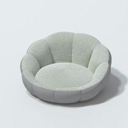 Scallop Snuggle Bed Sage Medium