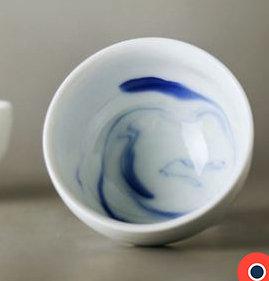 Blue Ink Round-Based Bowl 10 cm (Set of 2)