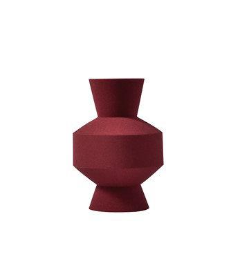 Sand Glazed Vase - Shape 11 in Oxblood