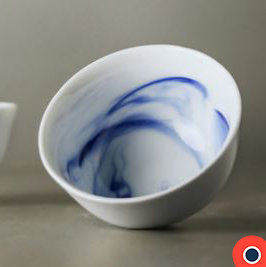 Blue Ink Bowl 8.5 cm (Set of 2)