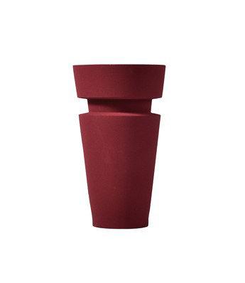 Sand Glazed Vase - Shape 9 in Oxblood