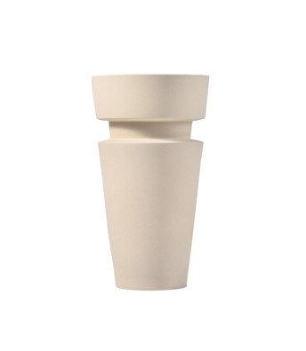 Sand Glaze Vase - Shape 9 in Eggshell