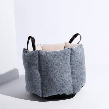 Pouf Cat Bucket Bag Grey