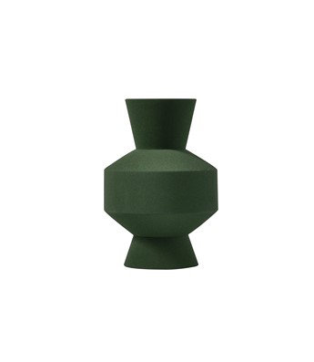 Sand Glaze Vase - Shape 11 in Forest Green