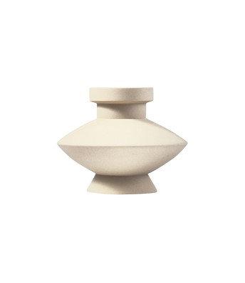 Sand Glaze Vase - Shape 3 in Eggshell