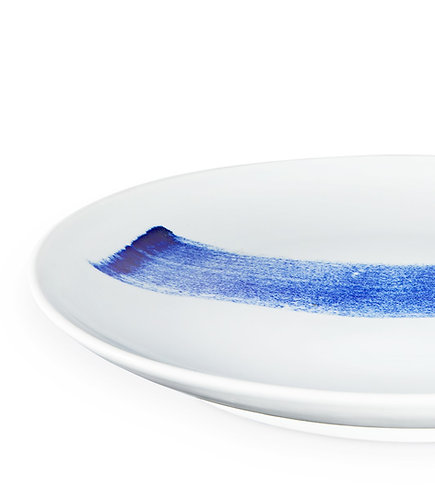 Blue Brush Plate 41 cm